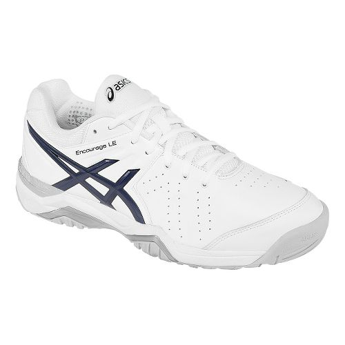 Mens ASICS GEL-Encourage LE Court Shoe - White/Navy 8.5