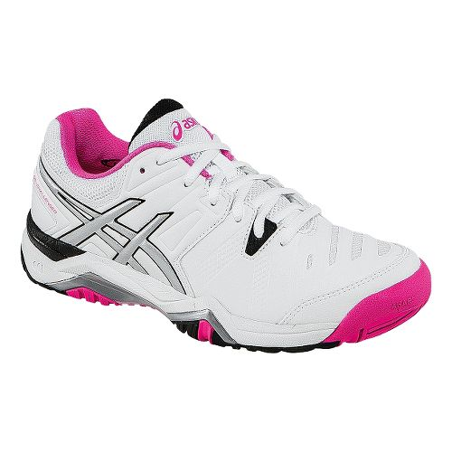 Womens ASICS GEL-Challenger 10 Court Shoe - White/Pink Glo 8