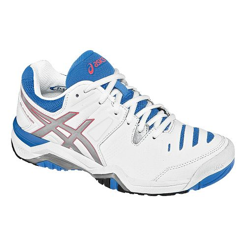 Womens ASICS GEL-Challenger 10 Court Shoe - White/Powder Blue 11