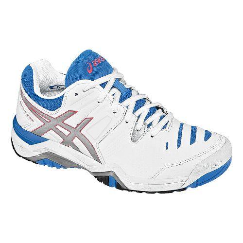 Womens ASICS GEL-Challenger 10 Court Shoe - White/Powder Blue 7.5