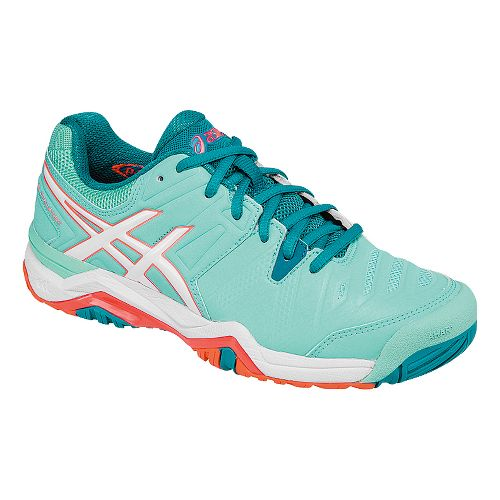 Womens ASICS GEL-Challenger 10 Court Shoe - Mint/White 6.5