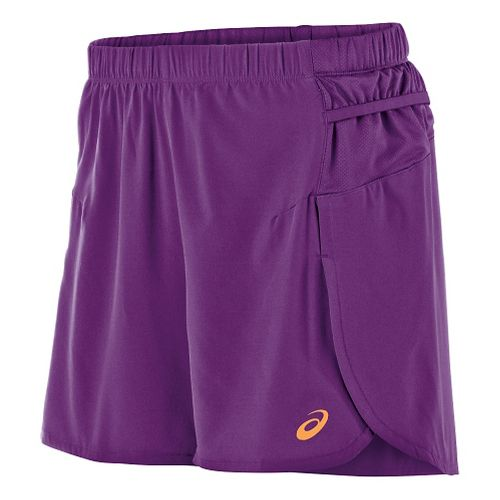 Womens ASICS FujiTrail Woven 4 Unlined Shorts - Purple Magic M