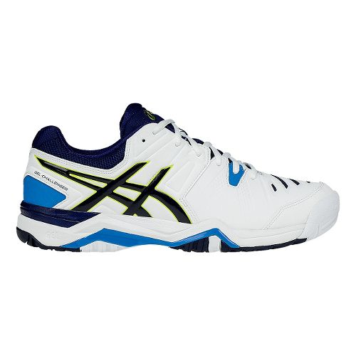 Mens ASICS GEL-Challenger 10 Court Shoe - White/Blue 7.5