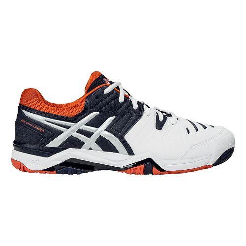 Mens ASICS GEL-Challenger 10 Court Shoe - White/Orange 14
