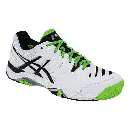 Mens ASICS GEL-Challenger 10 Court Shoe - White/Flash Green 7