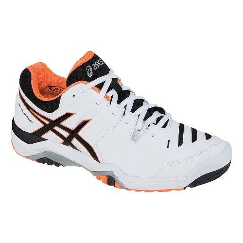 Mens ASICS GEL-Challenger 10 Court Shoe - White/Onyx 7.5