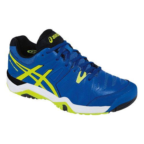 Mens ASICS GEL-Challenger 10 Court Shoe - Blue/Flash Yellow 10.5