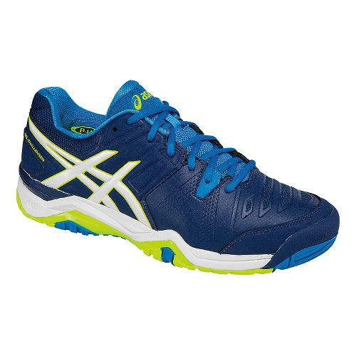 Mens ASICS GEL-Challenger 10 Court Shoe - Blue/White 9.5