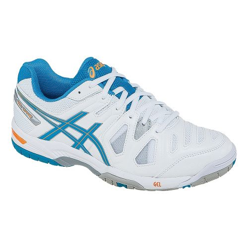 Womens ASICS GEL-Game 5 Court Shoe - White/Soft Blue 7.5