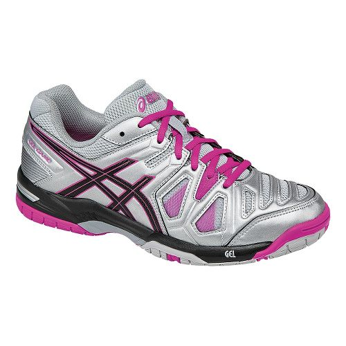 Womens ASICS GEL-Game 5 Court Shoe - White/Hot Coral 6.5