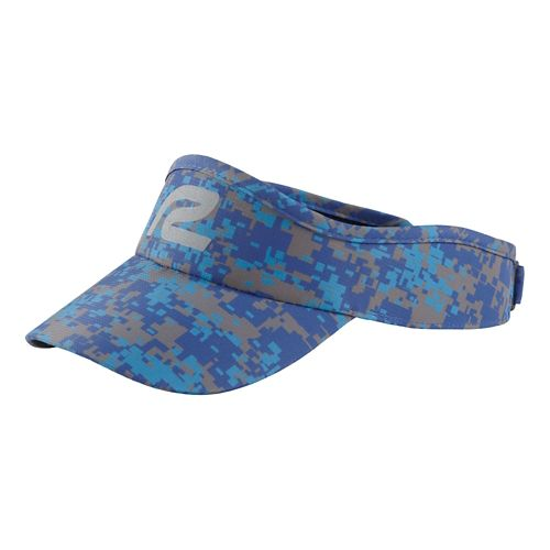 Mens R-Gear Fast Track Camo Visor Headwear - Cobalt/Charcoal