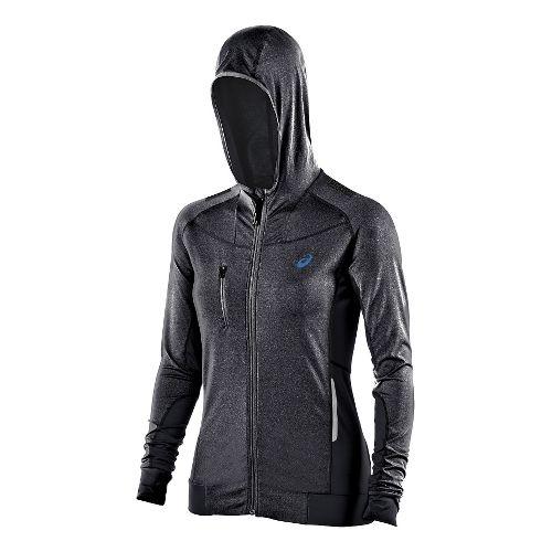 Womens ASICS FujiTrail Warm Up Hooded Jackets - Purple Magic Heather L
