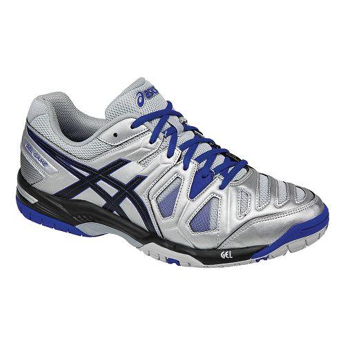 Mens ASICS GEL-Game 5 Court Shoe - Silver/Black 12