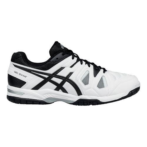 Mens ASICS GEL-Game 5 Court Shoe - White/Black 12