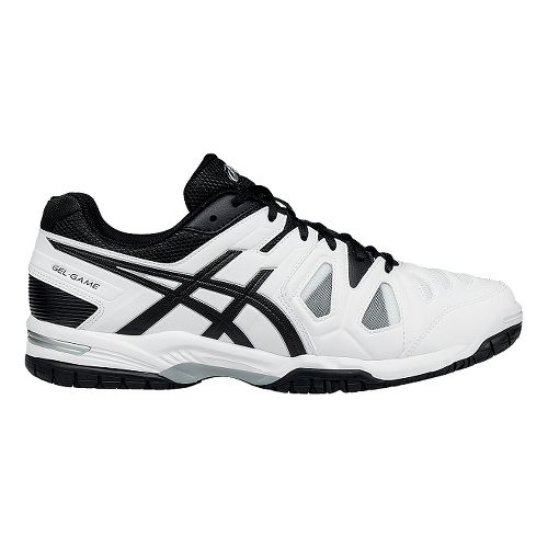 Mens ASICS GEL-Game 5 Court Shoe - White/Black 12.5