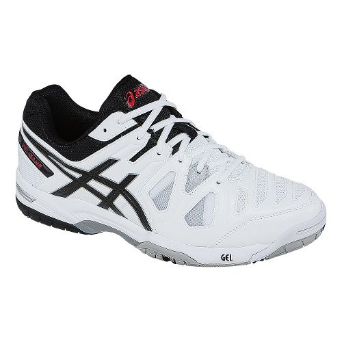 Mens ASICS GEL-Game 5 Court Shoe - White/Onyx 8.5