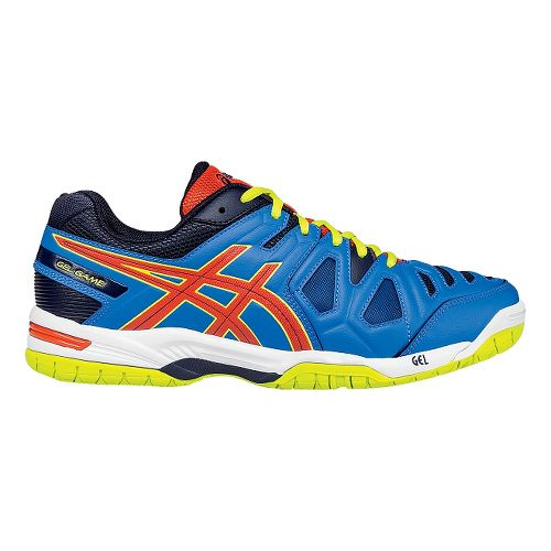 Mens ASICS GEL-Game 5 Court Shoe - Blue/Orange 12