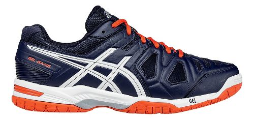 Mens ASICS GEL-Game 5 Court Shoe - White/Orange 10