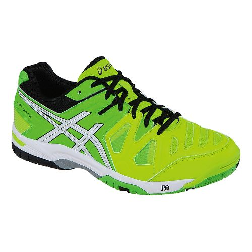 Mens ASICS GEL-Game 5 Court Shoe - Flash Yellow/White 7