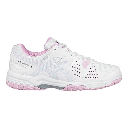Womens ASICS GEL-Dedicate 4 Court Shoe - White/Cotton Candy 10.5