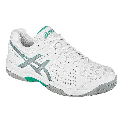 Womens ASICS GEL-Dedicate 4 Court Shoe - White/Mint 10.5