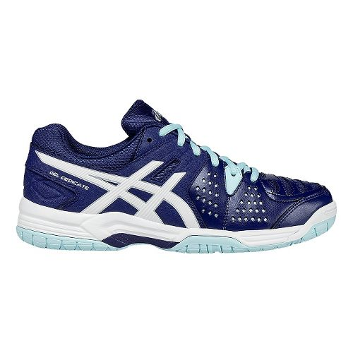Womens ASICS GEL-Dedicate 4 Court Shoe - Blue/White 8