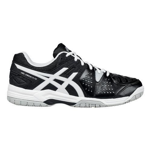 Mens ASICS GEL-Dedicate 4 Court Shoe - Black/White 7