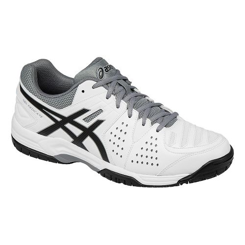 Mens ASICS GEL-Dedicate 4 Court Shoe - White/Black 7