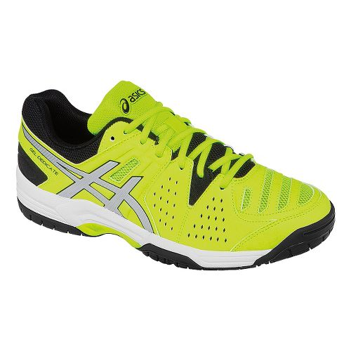 Mens ASICS GEL-Dedicate 4 Court Shoe - Flash Yellow/Silver 11