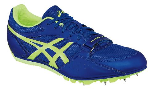 Mens ASICS Heat Chaser Track and Field Shoe - Deep Blue/Yellow 10.5