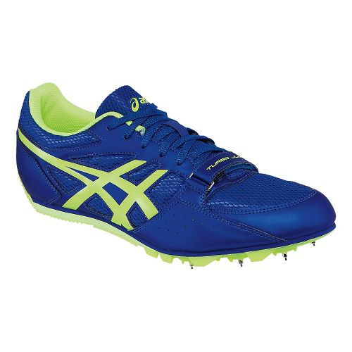 Mens ASICS Heat Chaser Track and Field Shoe - Deep Blue/Yellow 5.5