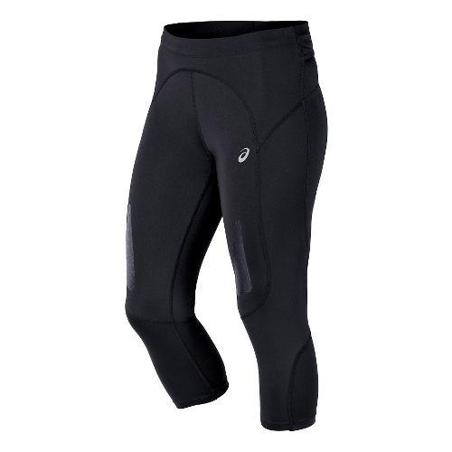 Womens ASICS FujiTrail Knee Capri Tights - Balance Black XS