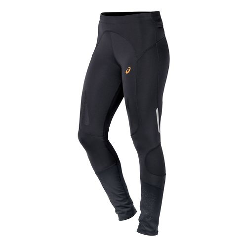 Womens ASICS FujiTrail Full Length Tights - Performance Black M