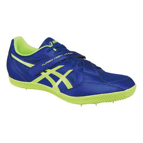 ASICS Turbo Hi Jump 2 Track and Field Shoe - Deep Blue/Yellow 7.5