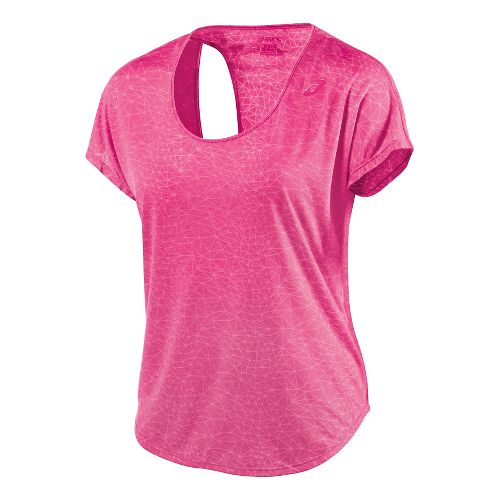 Womens ASICS Fit-Sana Graphic Tee Short Sleeve Technical Tops - Ultra Pink L