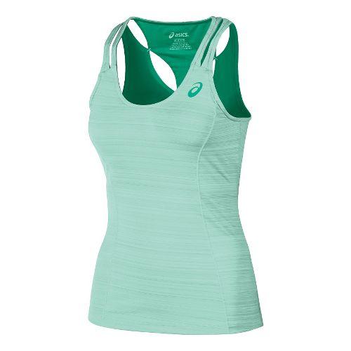 Womens ASICS Fit-Sana Contour Tank Sport Top Bras - Beach Glass XL
