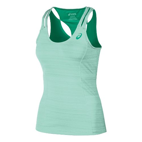 Womens ASICS Fit-Sana Contour Tank Sport Top Bras - Beach Glass XL