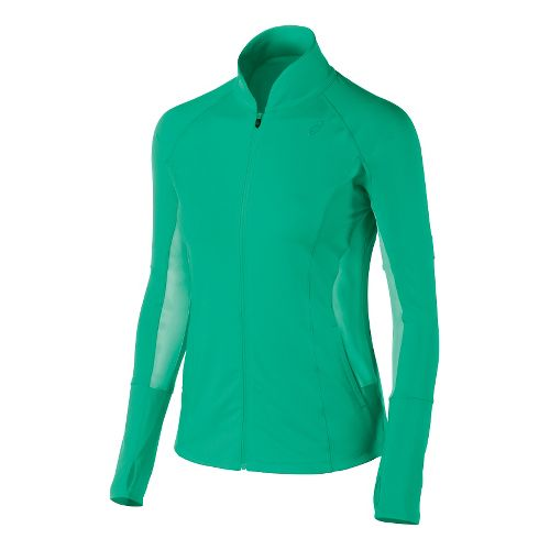 Womens ASICS Fit-Sana Full Zip Lightweight Jackets - Cool Mint M