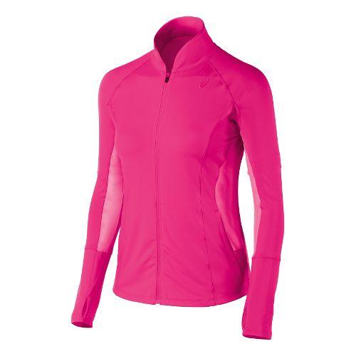 Womens ASICS Fit-Sana Full Zip Lightweight Jackets - Ultra Pink L