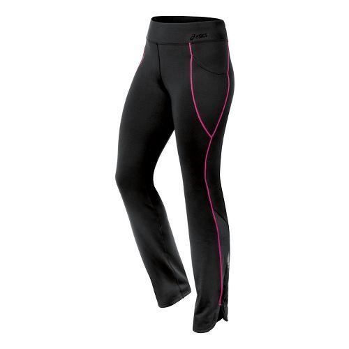 Womens ASICS Fit-Sana Scalloped Pant Capri Tights - Ultra Pink XL