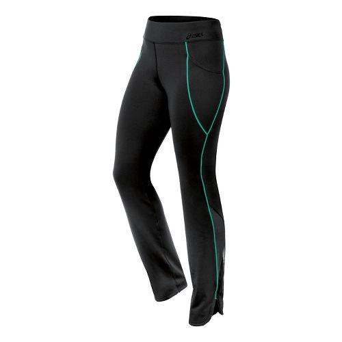 Womens ASICS Fit-Sana Scalloped Pant Capri Tights - Cool Mint S
