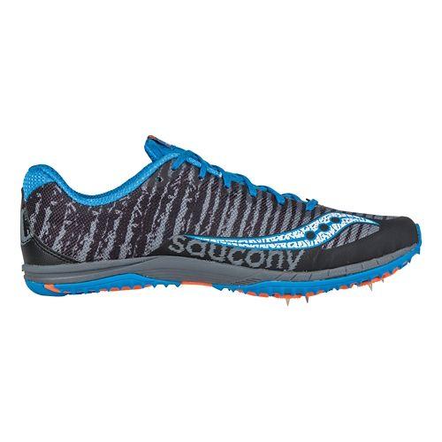 Mens Saucony Kilkenny XC Spike Cross Country Shoe - Black/Blue 4