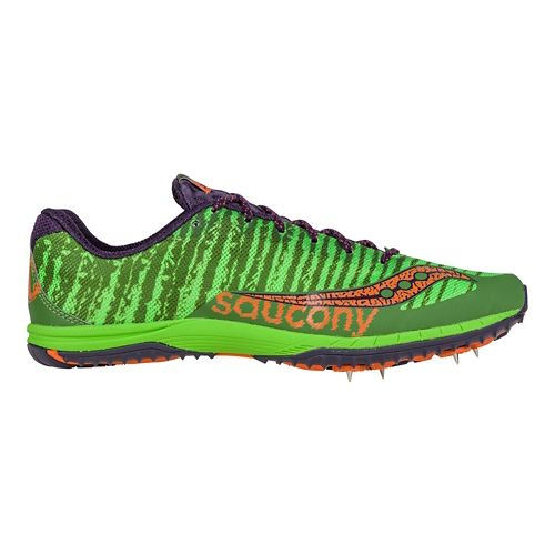 Mens Saucony Kilkenny XC Spike Cross Country Shoe - Green/Orange 12