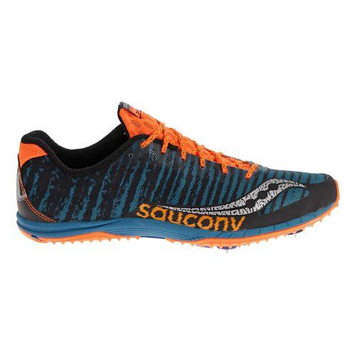 Mens Saucony Kilkenny XC Spike Cross Country Shoe - Royal/Orange 10.5