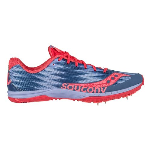 Womens Saucony Kilkenny XC Spike Cross Country Shoe - Lavender/Red 7.5