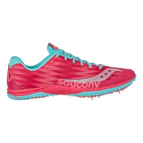 Womens Saucony Kilkenny XC Spike Cross Country Shoe - Berry/Light Blue 5.5