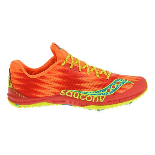 Womens Saucony Kilkenny XC Spike Cross Country Shoe - Orange/Citron 7.5