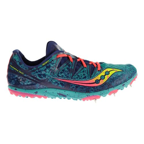 Womens Saucony Carrera XC Spike Cross Country Shoe - Blue 7.5