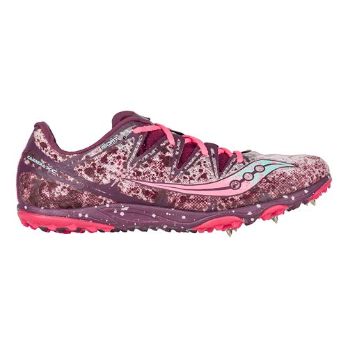 Womens Saucony Carrera XC Spike Cross Country Shoe - Purple/Pink 7.5