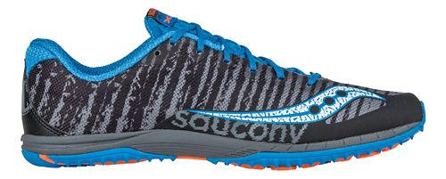 Mens Saucony Kilkenny XC Flat Cross Country Shoe - Black/Blue 5.5